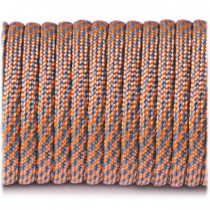 Paracord Type III 550, grey orange stairs #330