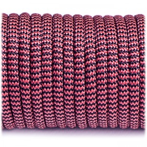 Paracord Type III 550, red black wave #333